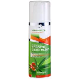 Topvet Hemp Seed Oil regeneračné konopné čistiace mlieko na telo a tvár  200 ml