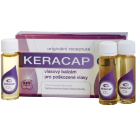 Topvet Keracap Hair Balsam For Damaged Hair  6x15 ml