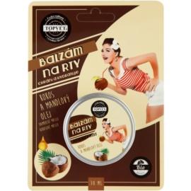 Topvet Angel's Kiss ochranný hydratační balzám na rty kokos a mandlový olej  30 ml