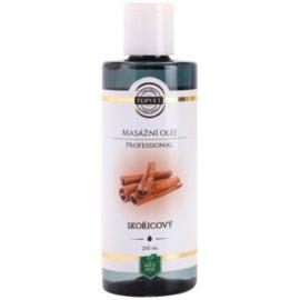 Topvet Professional masážní olej skořice  200 ml