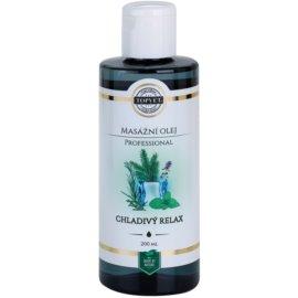 Topvet Professional masážní olej - chladivý relax  200 ml