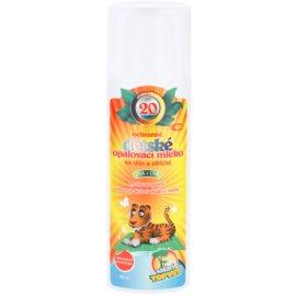 Topvet Safari opalovací mléko pro děti SPF 20 (UVA + UVB) 200 ml
