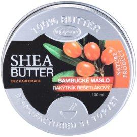 Topvet Shea Butter bambucké máslo s rakytníkem bez parfemace  100 ml