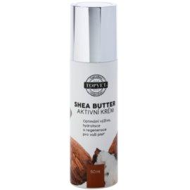 Topvet Shea Butter nährende Feuchtigkeit spendende Creme mit Bambus Butter  50 ml