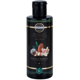Topvet Wellness olej do kúpeľa a na telo kokos a vanilka  200 ml