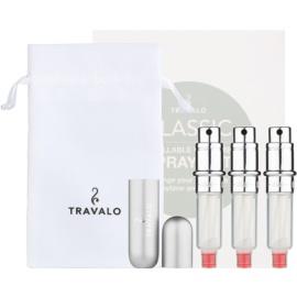 Travalo Classic HD Geschenkset I. Silver nachfüllbarer Flakon mit Zerstäuber 3 x 5 ml