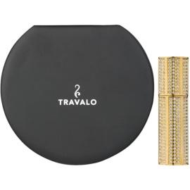 Travalo Divine nachfüllbarer Flakon mit Zerstäuber unisex 5 ml mit Swarovskikristallen Gold