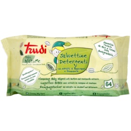 Trudi Baby Nature Hypoallergenic Cotton Cleansing Wipes with Hawthorn and Gentianella Extracts  64 pc