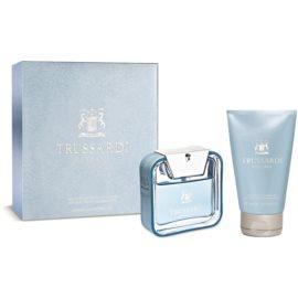 Trussardi Blue Land zestaw upominkowy I.  woda toaletowa 50 ml + szampon i żel pod prysznic 100 ml