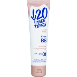 Under Twenty ANTI! ACNE matujący krem BB o działaniu antybakteryjnym SPF 10 odcień 01 Light Beige 60 ml