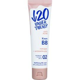 Under Twenty ANTI! ACNE matujący krem BB o działaniu antybakteryjnym SPF 10 odcień 02 Natural 60 ml