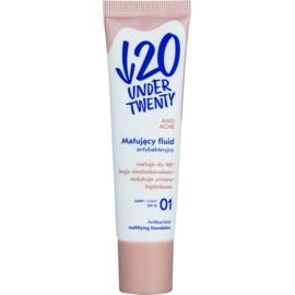 Under Twenty ANTI! ACNE machiaj cu efect matifiant SPF 10 culoare 01 Light 30 ml