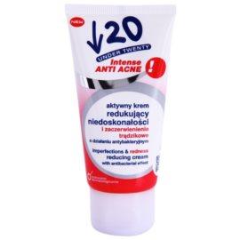 Under Twenty ANTI! ACNE INTENSE antibakteriální krém redukující nedokonalosti a začervenání pleti  50 ml