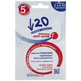 Under Twenty ANTI! ACNE INTENSE čisticí pleťová maska proti akné  12 ml