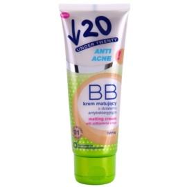 Under Twenty ANTI! ACNE matujący krem BB o działaniu antybakteryjnym SPF 10 odcień 01 Light Beige 75 ml