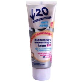 Under Twenty ANTI! ACNE мультифункціональний ВВ крем з антибактеріальним ефектом відтінок 01 Light Beige 75 мл