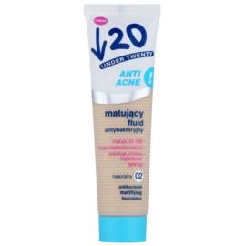 Under Twenty ANTI! ACNE machiaj cu efect matifiant SPF 10 culoare 02 Natural Matt 30 ml