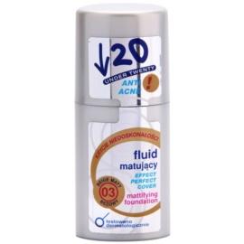 Under Twenty ANTI! ACNE machiaj cu efect matifiant SPF 10 culoare 03 Beige Matt 30 ml