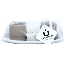 Unipar Meadow Light Brown Geschenkset II. Kerze 64 g + Kerze 64 g + Keramik-Untersetzer 1 ks + Streichhölzer