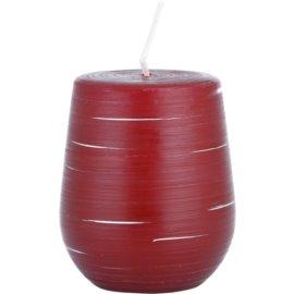Unipar Nordlys Steep Line Red dekorativní svíčka 205 g