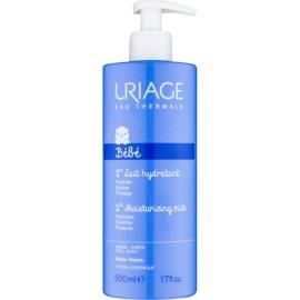 Uriage 1érs Soins Bébés Feuchtigkeit spendende Gesichts und Körpermilch für Kinder ab der Geburt  500 ml