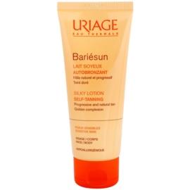Uriage Bariésun Autobronzant hedvábně jemné samoopalovací mléko na obličej a tělo  100 ml