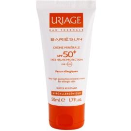 Uriage Bariésun minerální ochranný krém na obličej a tělo SPF 50+ voděodolný  50 ml