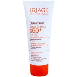 Uriage Bariésun minerální ochranný krém na obličej a tělo SPF 50+ voděodolný  100 ml