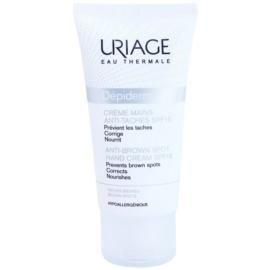 Uriage Dépiderm kézkrém pigmentfoltok ellen SPF 15  50 ml
