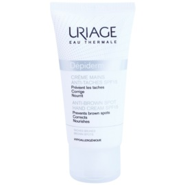 Uriage Dépiderm Handcreme gegen Pigment-Flecken LSF 15  50 ml