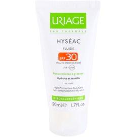 Uriage Hyséac mattierendes Fluid mit feuchtigkeitsspendender Wirkung SPF 30  50 ml