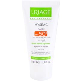 Uriage Hyséac mattierendes Fluid mit feuchtigkeitsspendender Wirkung SPF 50+  50 ml