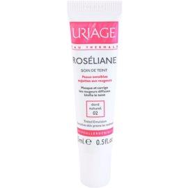 Uriage Roséliane Tönungsfluid für empfindliche Haut mit der Neigung zum Erröten Farbton 02 Doré Naturel  15 ml