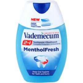 Vademecum 2 in1 Menthol Fresh pasta do zębów + płyn do płukania jamy ustnej w jednym  75 ml
