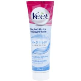 Veet Depilatory Cream depilacijska krema za noge za občutljivo kožo aloe vera in vitamin E  100 ml