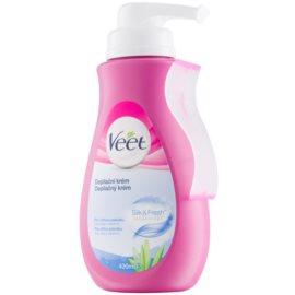 Veet Depilatory Cream crema depilatoria para pieles sensibles aloe vera y vitamina E  400 ml