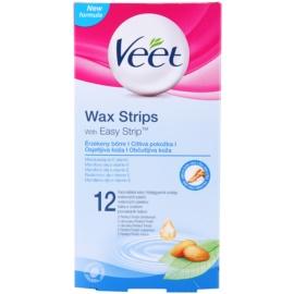 Veet Wax Strips szőrtelenítő gyantacsík az érzékeny bőrre  12 db