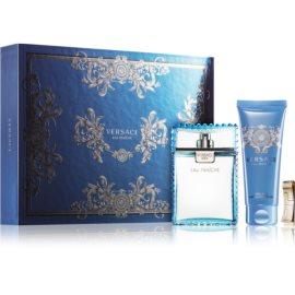 Versace Man Eau Fraîche Gift Set XXV.  Eau De Toilette 100 ml + Shower Gel 100 ml + money clip