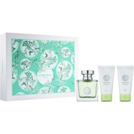 Versace Versense подарунковий набір І  Туалетна вода 50 ml + Гель для душу 50 ml + Молочко для тіла 50 ml