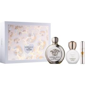 Versace Eros Pour Femme set cadou XIII.  Eau de Parfum 100 ml + Eau de Parfum 10 ml + Lotiune de corp 100 ml