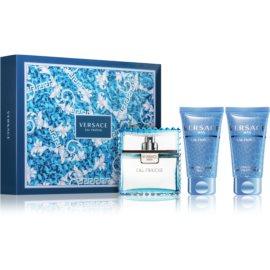 Versace Man Eau Fraîche Gift Set IV.  Eau De Toilette 50 ml + Shower Gel 50 ml + Aftershave Balm 50 ml
