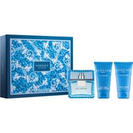 Versace Man Eau Fraîche Geschenkset IV. Eau de Toilette 50 ml + Duschgel 50 ml + After Shave Balsam 50 ml