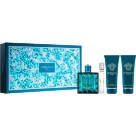 Versace Eros Gift Set VIII. Eau De Toilette 100 ml + Eau De Toilette 10 ml + Shower Gel 100 ml + Aftershave Balm 100 ml