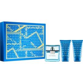Versace Man Eau Fraîche подаръчен комплект VII. тоалетна вода 50 ml + душ гел 50 ml + балсам след бръснене 50 ml