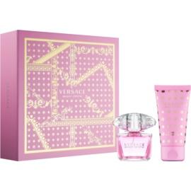 Versace Bright Crystal dárková sada XVI.  toaletní voda 30 ml + tělové mléko 50 ml