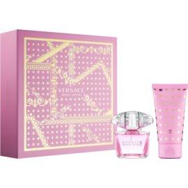 Versace Bright Crystal lote de regalo XVI.  eau de toilette 30 ml + leche corporal 50 ml