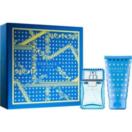 Versace Man Eau Fraîche set cadou VII.  Apa de Toaleta 30 ml + gel de duș și baie 50 ml