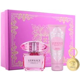 Versace Bright Crystal Absolu dárková sada XII.  parfémovaná voda 90 ml + tělové mléko 100 ml + klíčenka