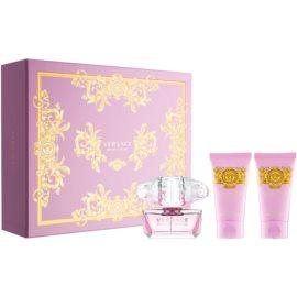 Versace Bright Crystal подарунковий набір XXIV  Туалетна вода 50 ml + Гель для душу 50 ml + Молочко для тіла 50 ml