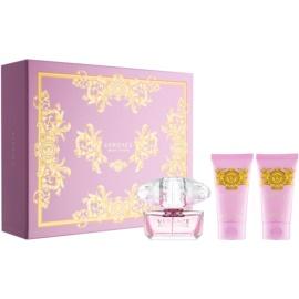Versace Bright Crystal darčeková sada XXIV.  toaletná voda 50 ml + sprchový gel 50 ml + telové mlieko 50 ml